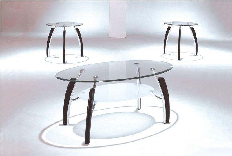 Clear Glass Top Coffee Table