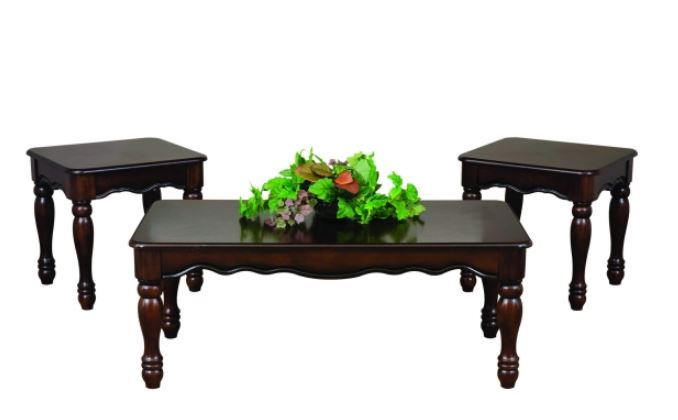 Cherry Color Coffee Table Set