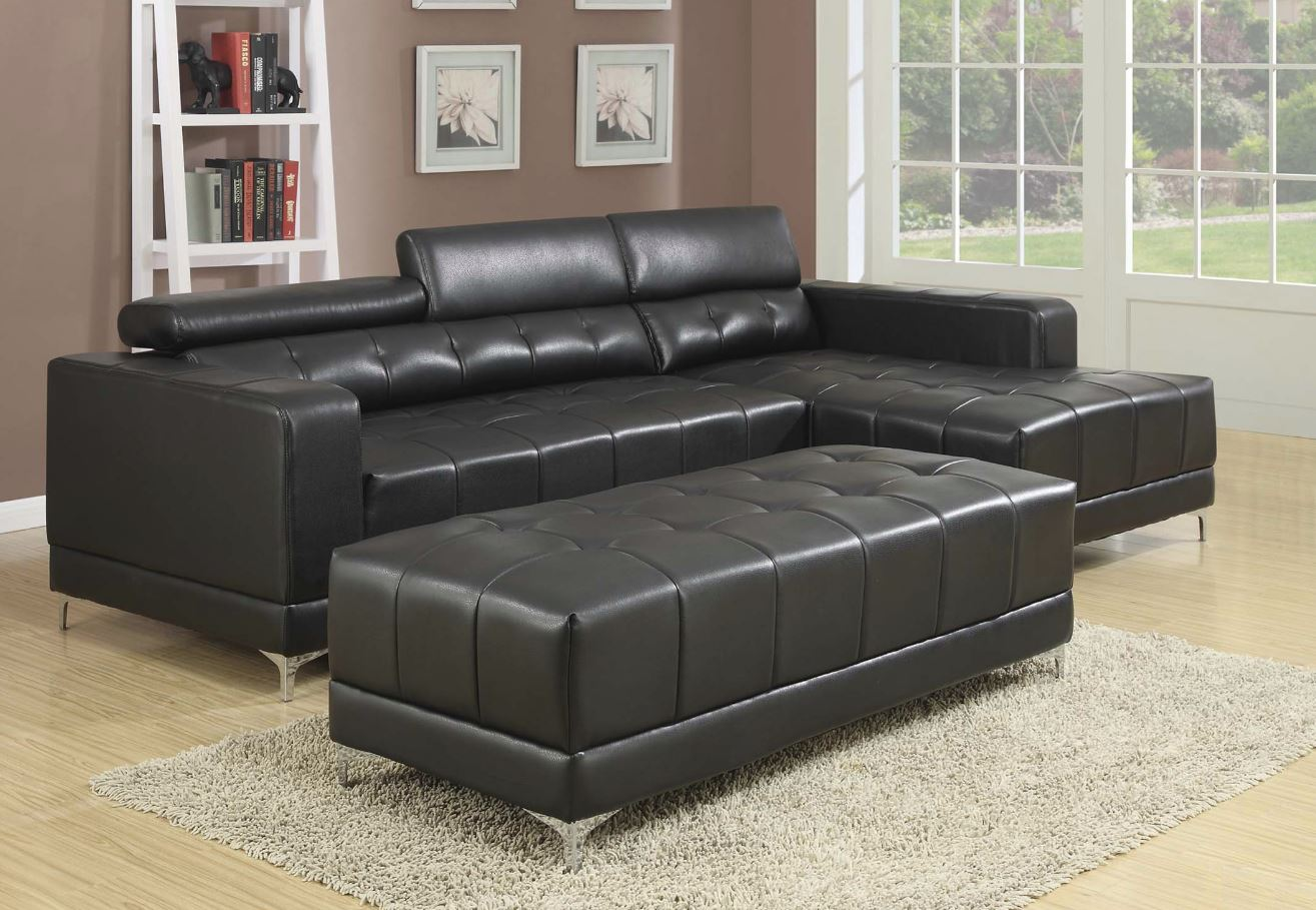 Sectional with Adjustable Head Rests