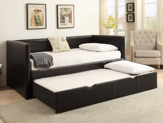 Black Twin Daybed with Trundle
